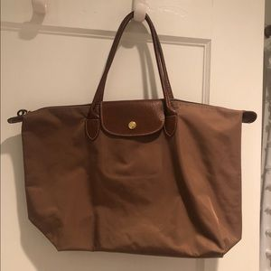 Authentic small beige longchamp bag